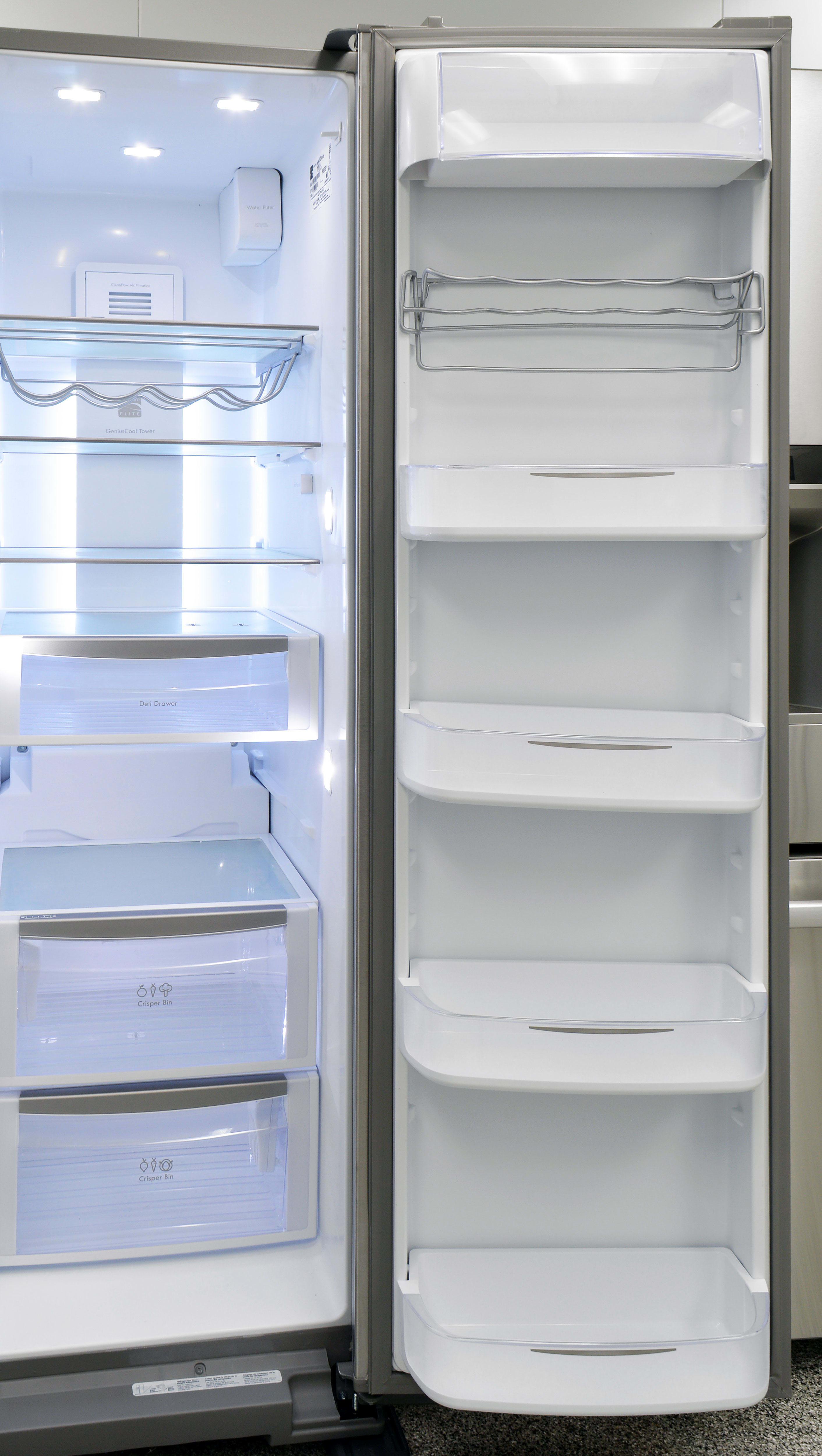 There's plenty of adjustable, gallon-sized storage on the Kenmore Elite 51773's fridge door.