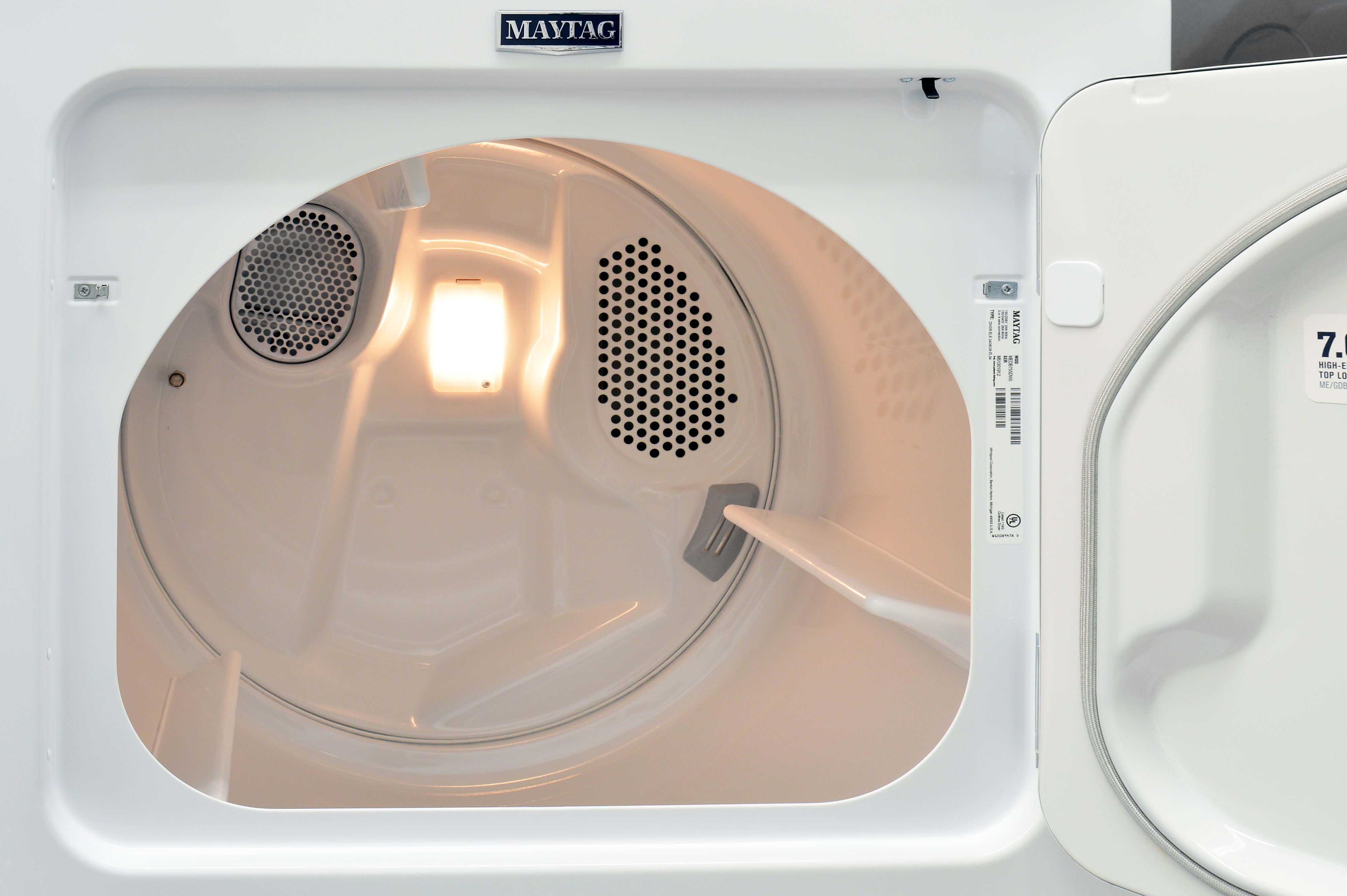The Maytag Bravos MEDB755DW's 7-cu.-ft. drum was more than capable of handling our large test load.s