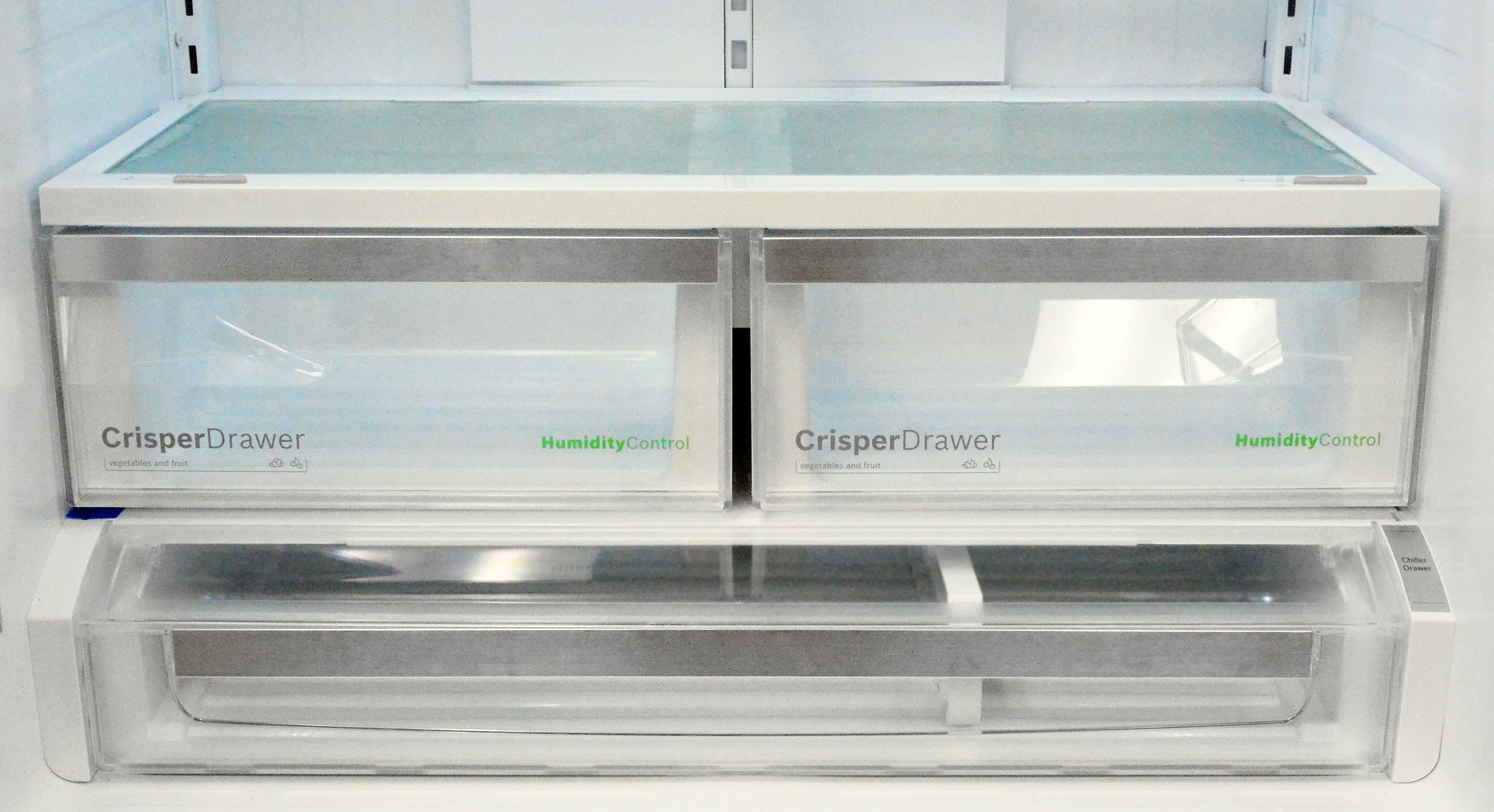 The matching crispers were the least impressive part of this fridge in terms of performance.