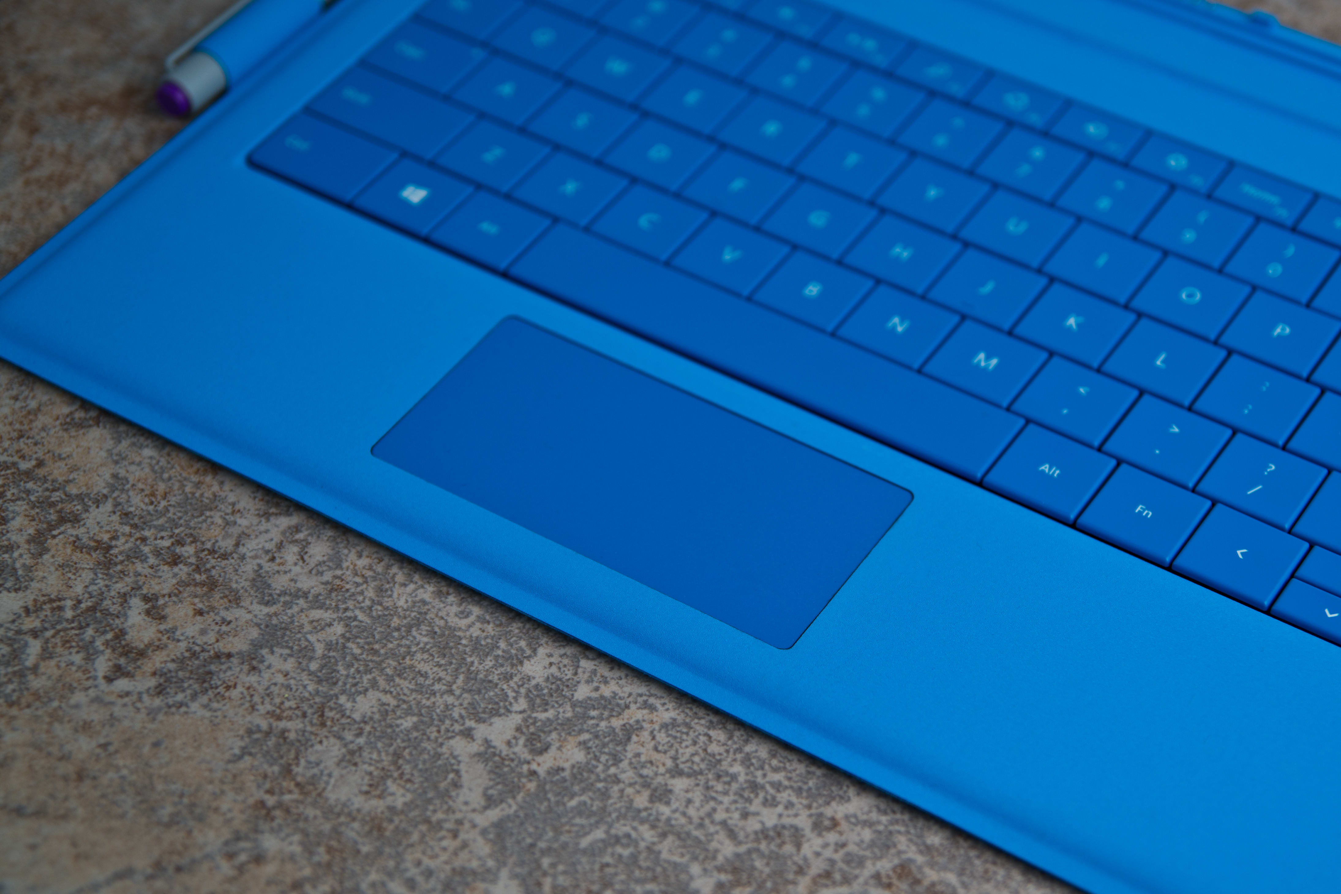 A closer look at the Microsoft Surface Pro 3's touchpad.