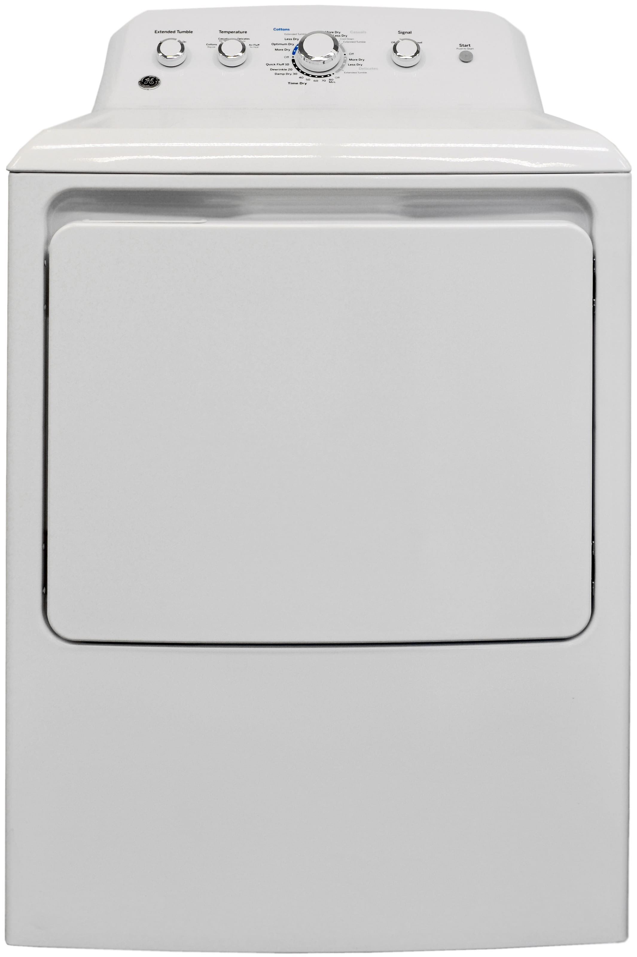 The simple GE GTD42EASJWW is one of the best budget dryers around.