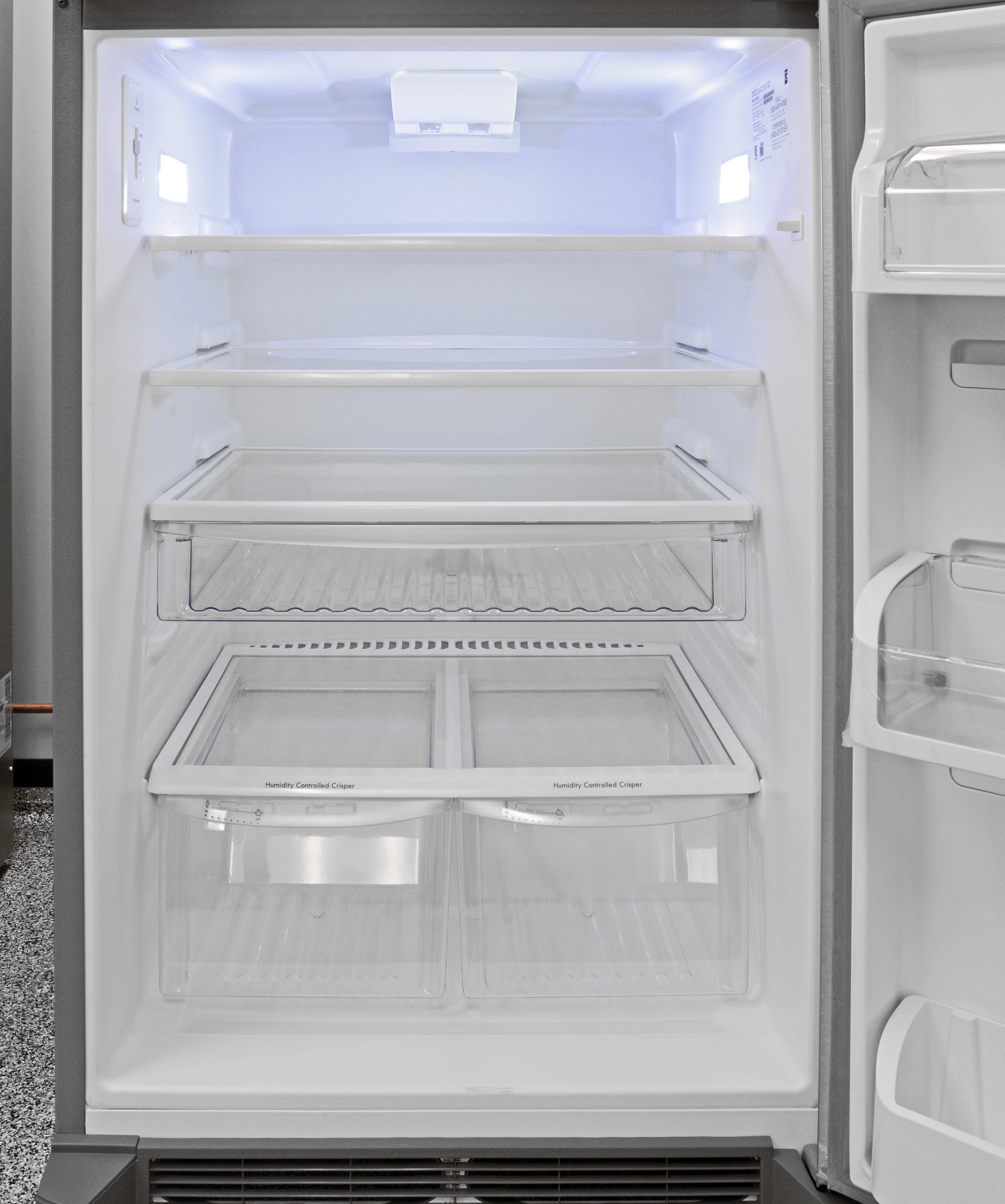 Lots of shelves make the Kenmore 70623 easy to organize, but it runs the risk of feeling cramped.