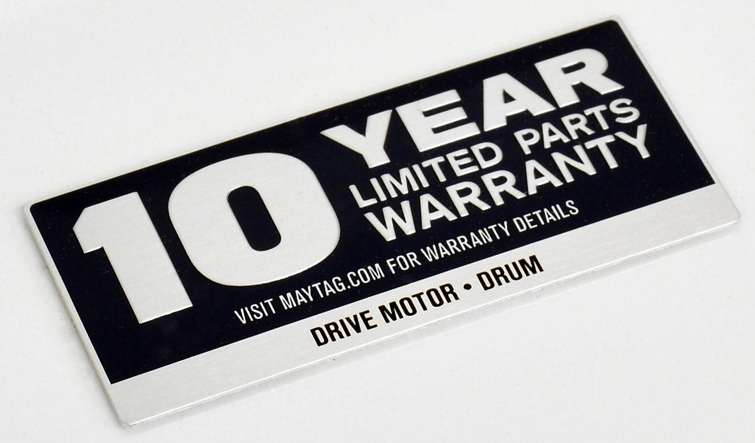Maytag offers an extended warranty on the Centennial MEDC215EW's drive motor and drum.