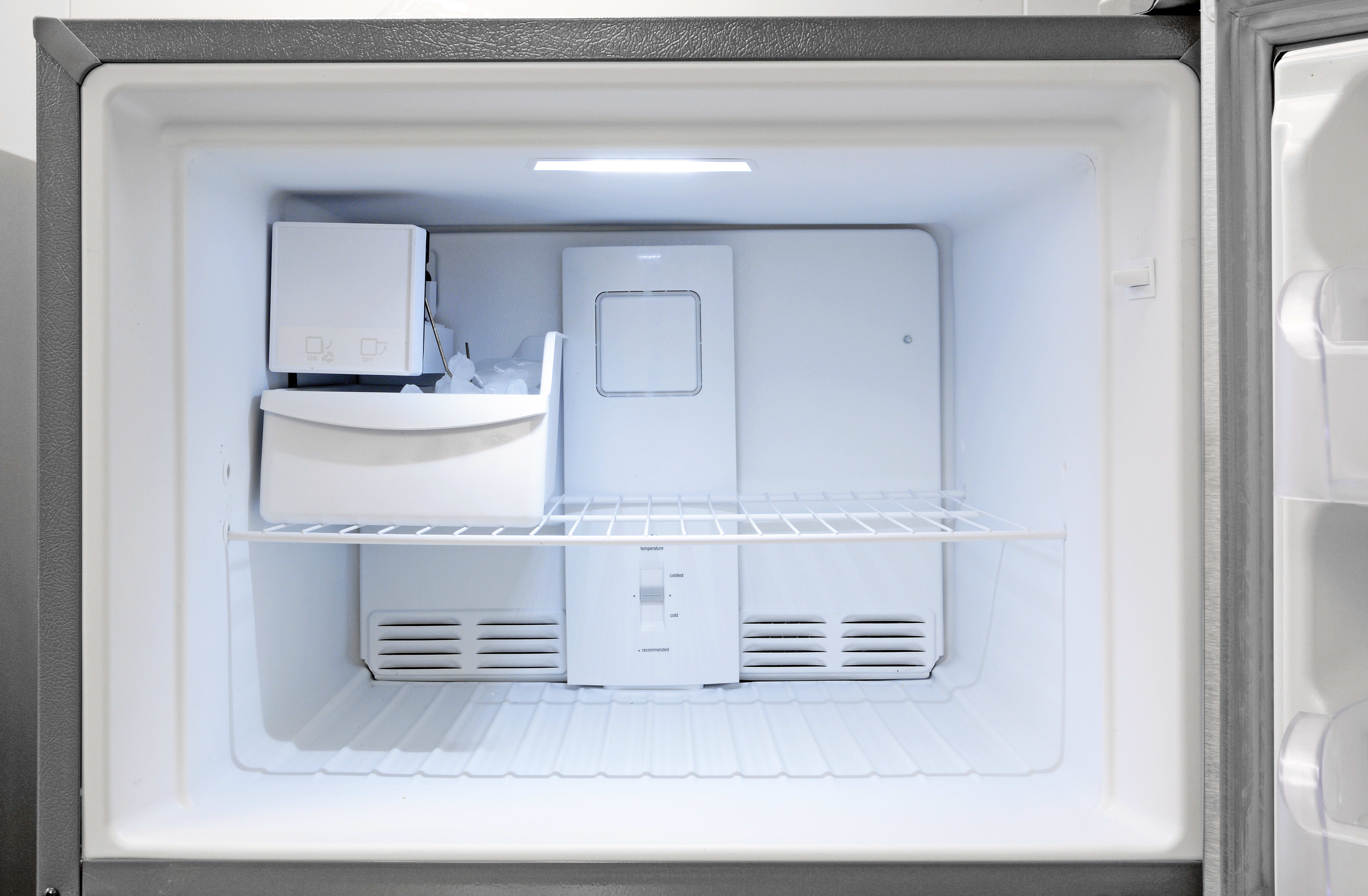 Even if you want to use the Kenmore 70623's icemaker, there's still plenty of space for groceries.