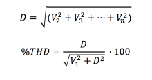 IEC equation for Total Harmonic Distortion
