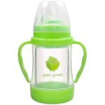 Green sprouts glass sip straw