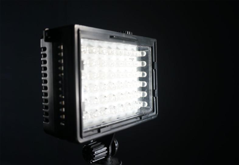 For illuminating charts evenly at low light levels we use LitePanels Micro adjustable LED lights.