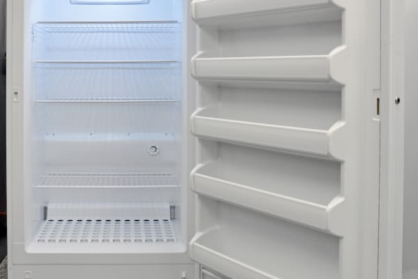 Lots of shelves are available inside the Frigidaire FFFH17F2QW to help organize your food.