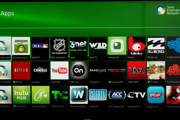 Under Sony's apps tab, you'll find everything from Crackle to TMZ.