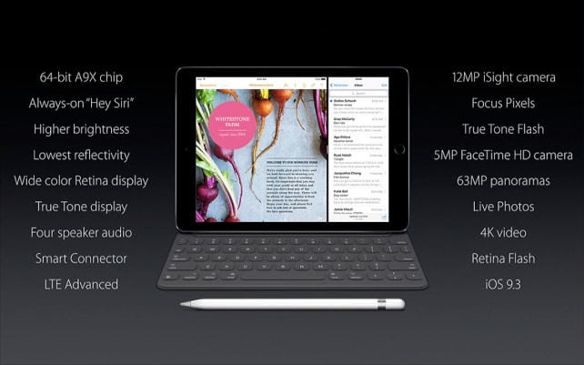 Apple iPad Pro Specs