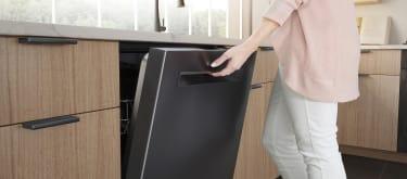 Bosch black stainless steel kitchen dishwasher