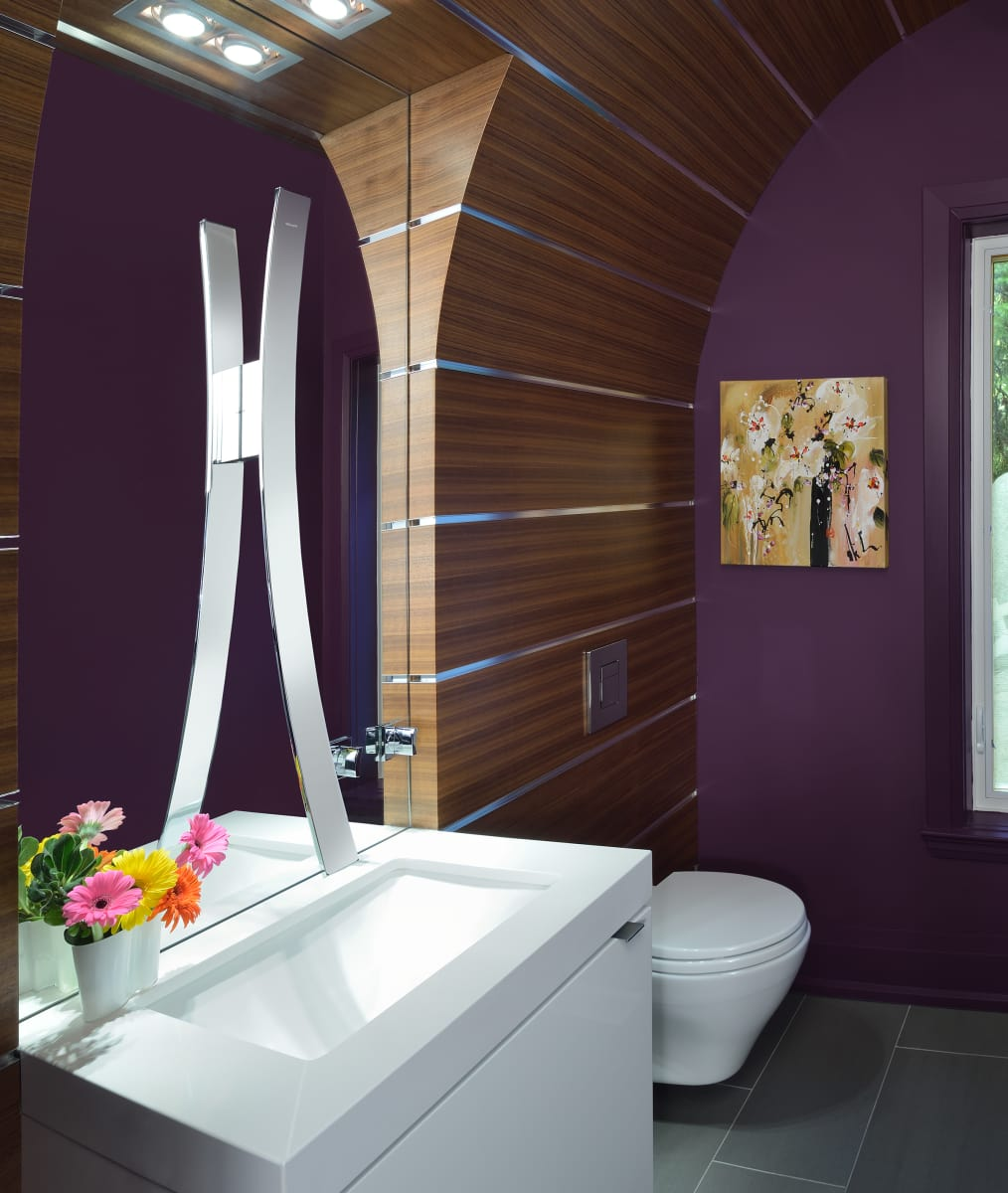 are lavender and purple the hot new bathroom color trends