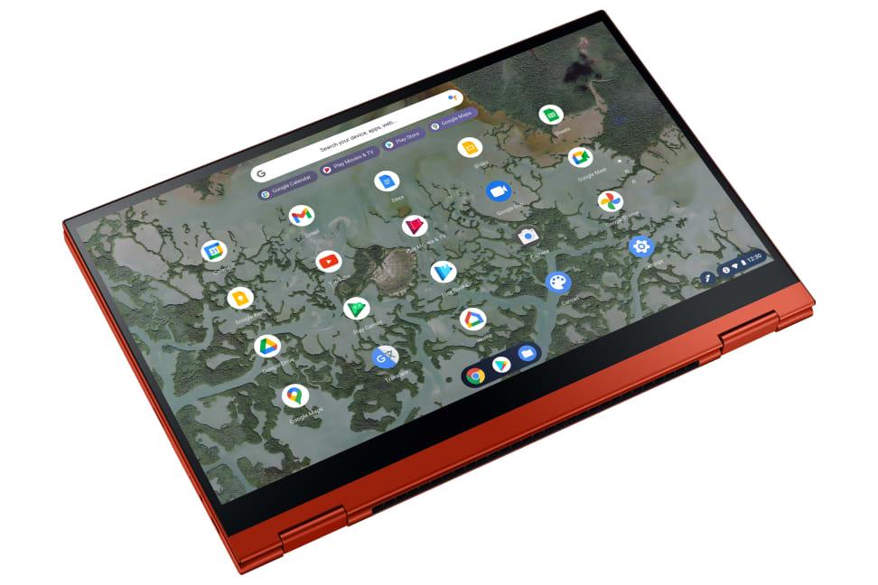 Samsung Galaxy Chromebook 2 σε λειτουργία tablet