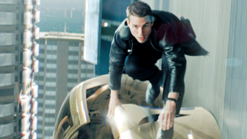 Tom Cruise runs from a futuristic police force in Spielberg's 'Minority Report.'
