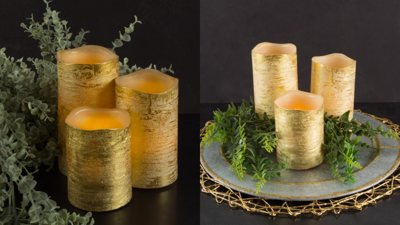 Lavish Home gold candles