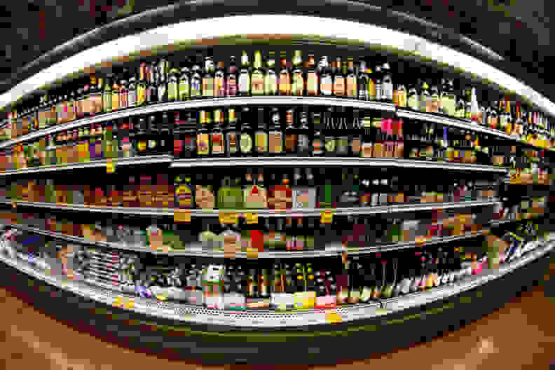 Beer at the store.