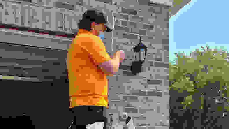 Outdoor camera install