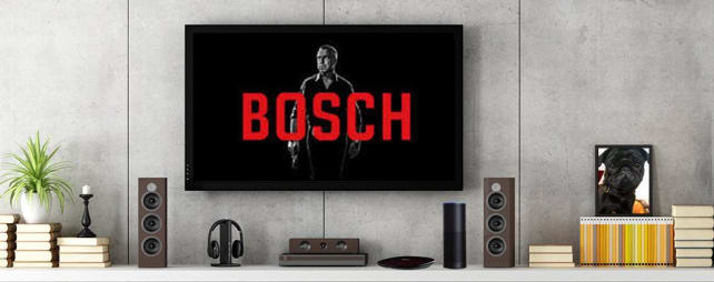 A home theater with an Amazon Echo