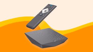 Xfinity Flex streaming box on an orange background