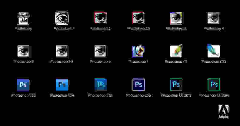 The Evolution of the Photoshop Icon