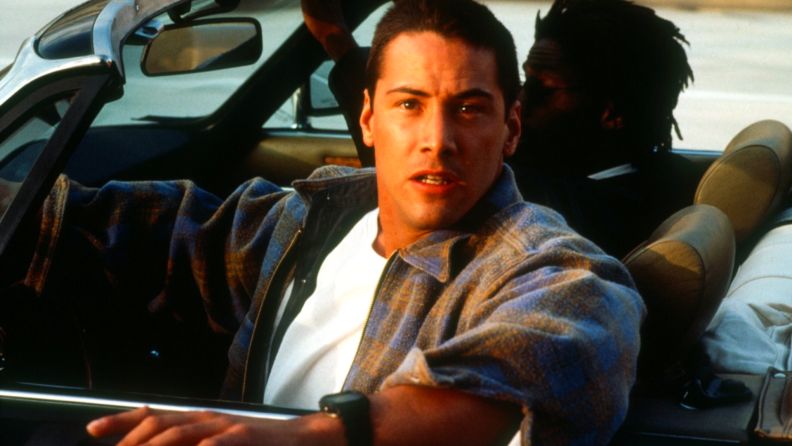 Keanu Reeves saves a busload of people (and then some) in 1994's 'Speed.'