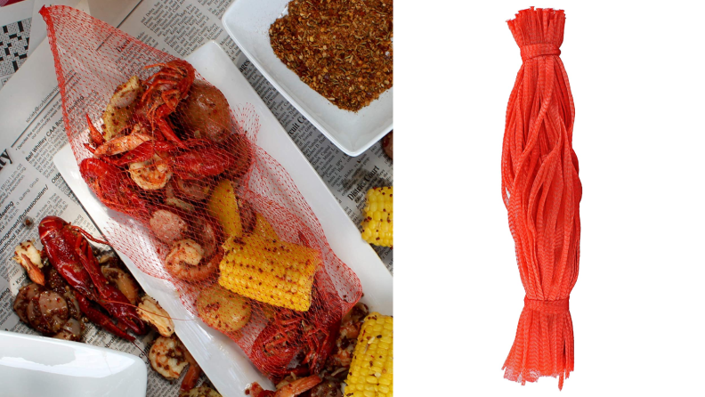 Boil bags for steaming shrimp and clams