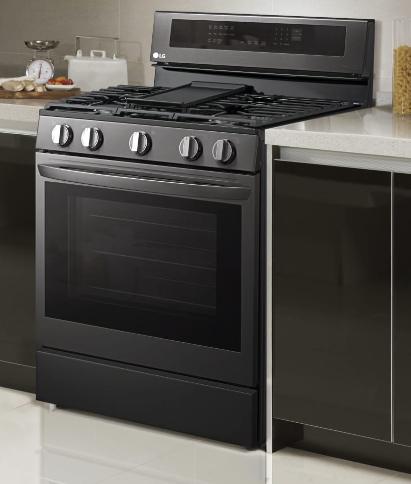 LG LREL6325 InstaView ThinQ Electric Range with Air Fry