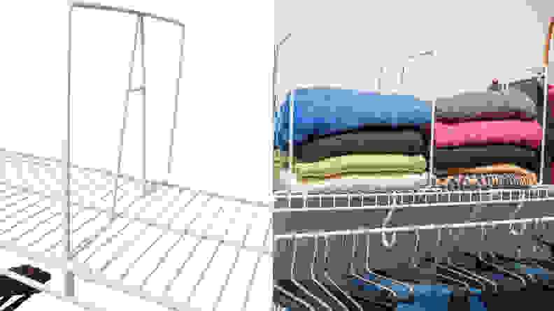 Evelots Closet Wire Shelf Divider
