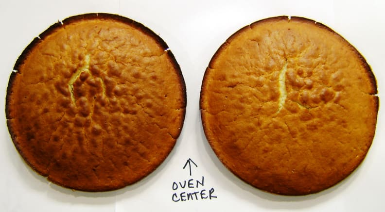 Lower cake top convection