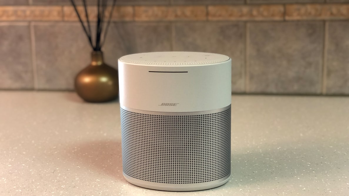 Bose Home Speaker 300 against black background