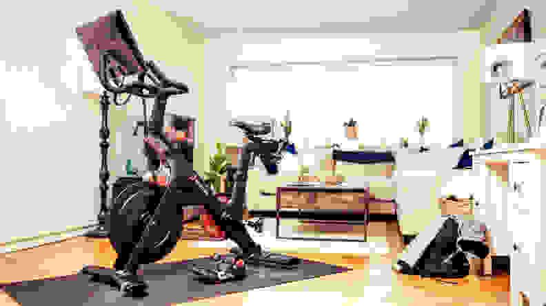 Peloton Bike in Living Room