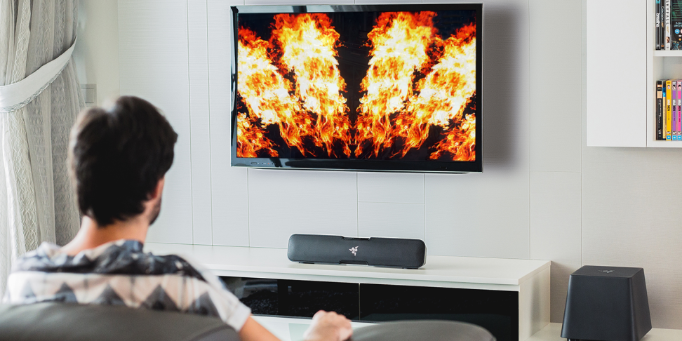 For less than $1,000 you can get an HDR-ready home theater, perfect for when you want to just stare at fire.
