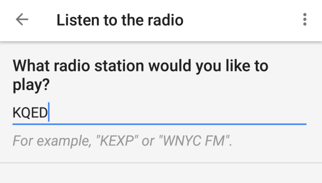 Google Routines Radio