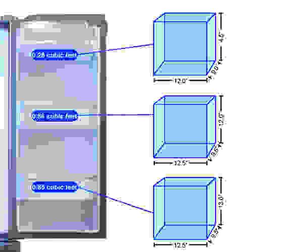 Refrigerator Door 2 Storage Graph