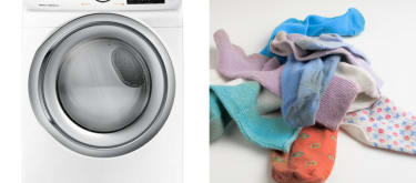 Washing machines really eat your socks