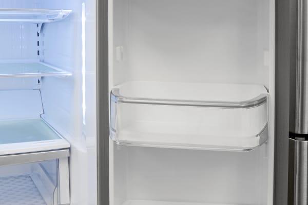The Kenmore Elite 72483's right fridge door has plenty of gallon-sized storage available.