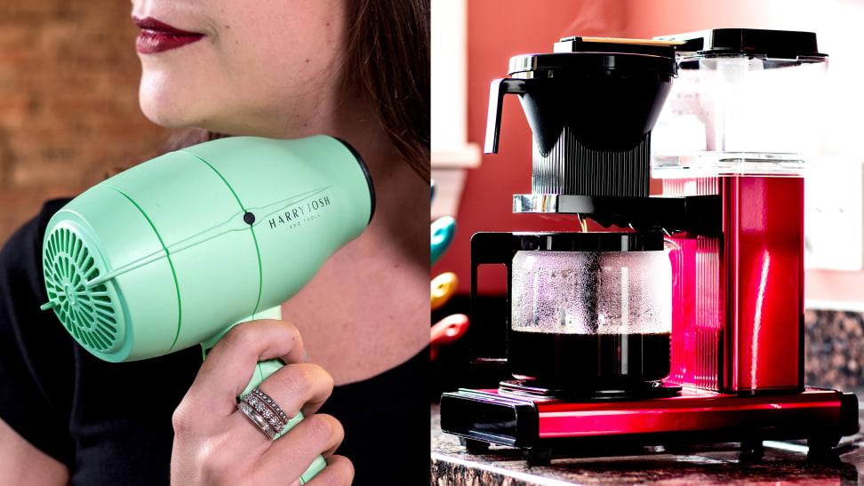 Harry Josh hair dryer and Technivorm coffee maker