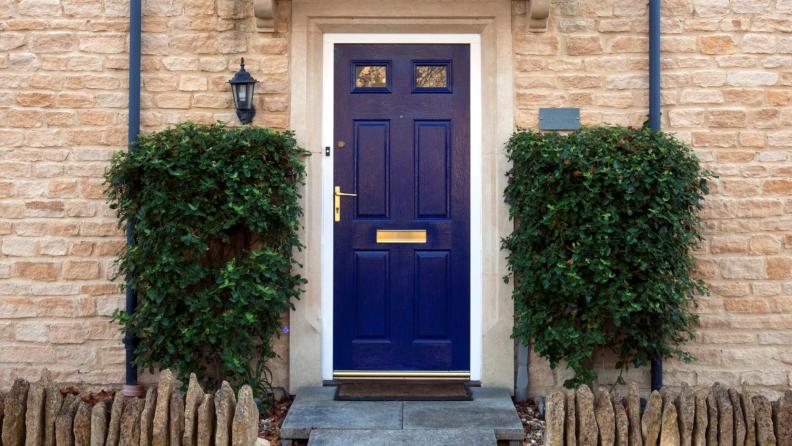 dark blue door