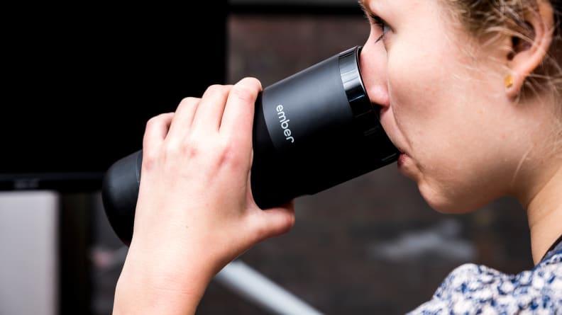 Ember Travel Mug Drinking
