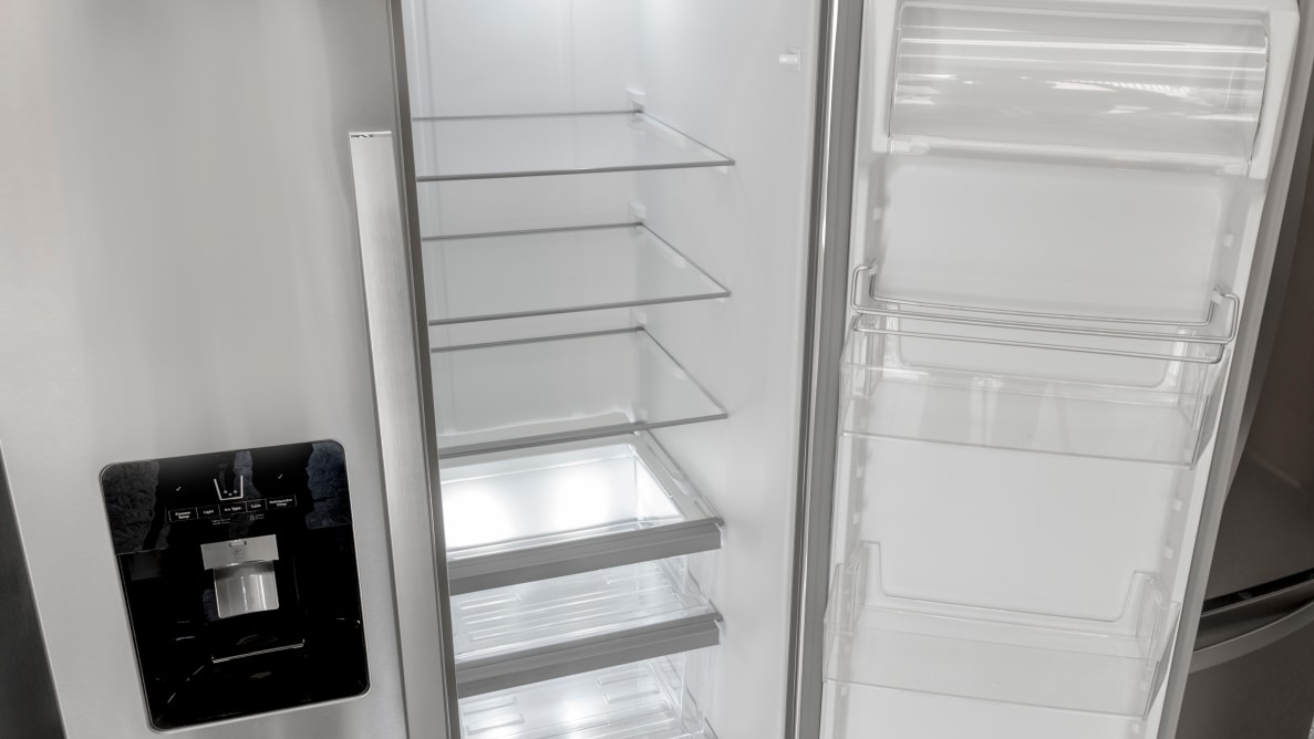The Whirpool WRS325SDHZ side-by-side refrigerator