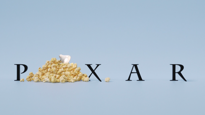 A title card from Pixar Popcorn featuring the Pixar label.
