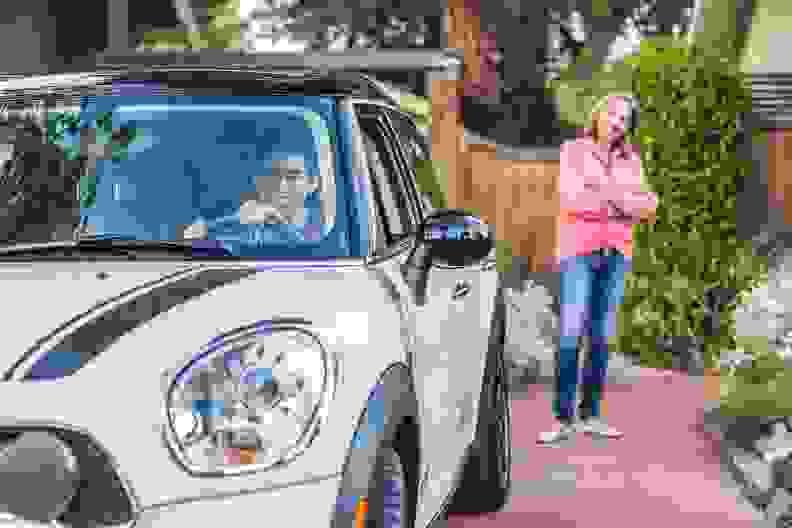 A car in a driveway