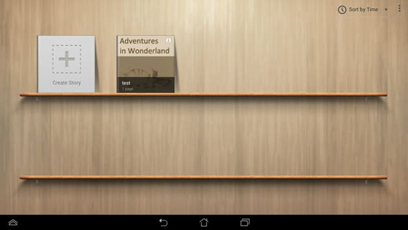 The Asus Story app