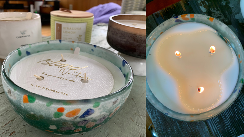 Anthropologie Confetti Candle