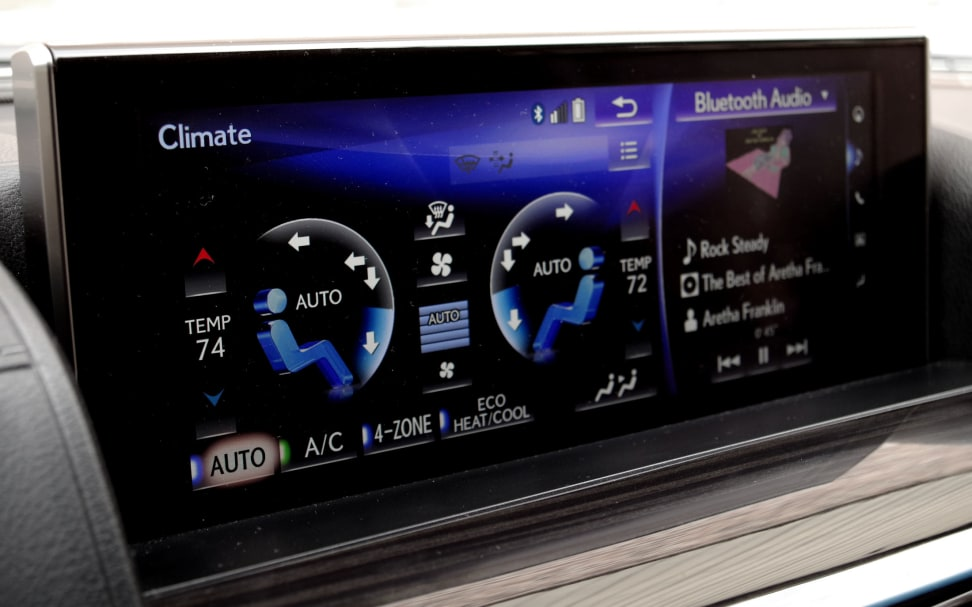 Lexus Remote Touch Screen Climate Control