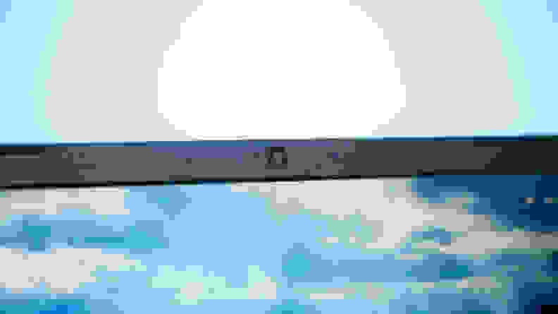 shot of webcam on top of display