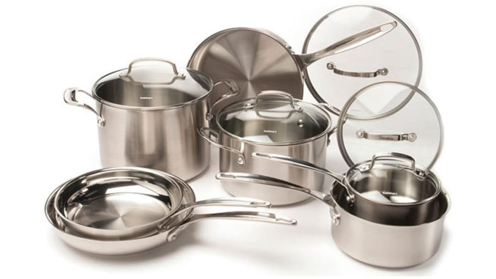 You can upgrade your kitchen aesthetic with this stainless cookware set that's only $130