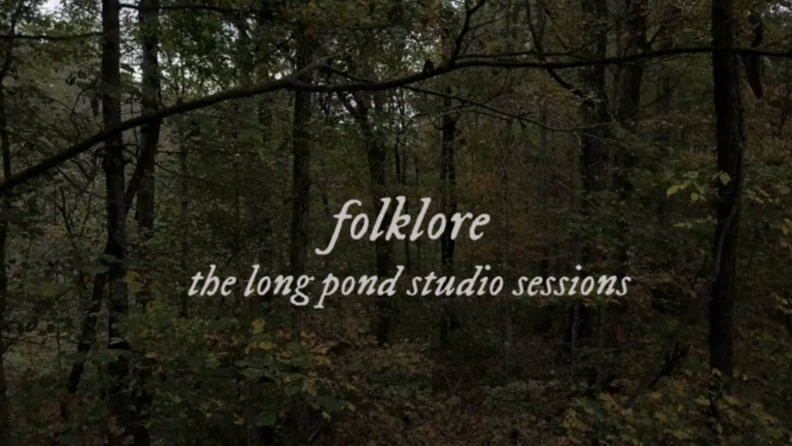 A title card from the film Folklore: The Long Pond Sessions