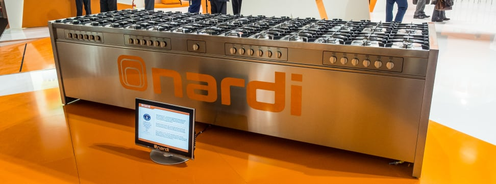 With a whopping 50 gas burners, Nardi's Vulcano is the biggest cooktop in the world.