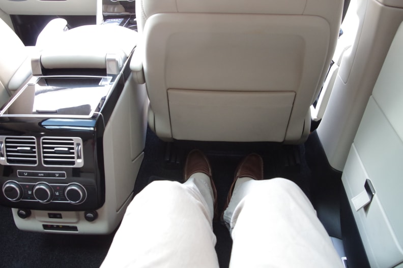 Equipped with the Long Wheelbase option, the Rover's chassis is stretched 7.8 inches for 7.3 extra inches of legroom.